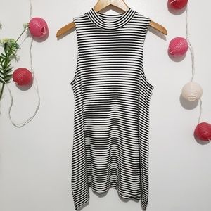 MOSSIMO high neck striped tunic top S